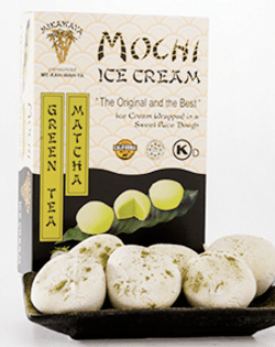 Green Tea Matcha Mochi Ice Cream Box and Plate