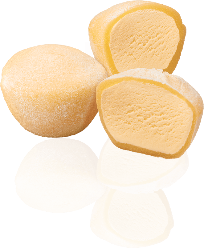 Mochi Ice Cream Diagram Whole and Cut - What is Mochi Ice Cream