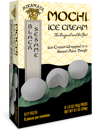 Mikawaya Mochi Ice Cream - Black Sesame