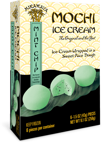 Mikawaya Mochi Ice Cream - Mint Chip