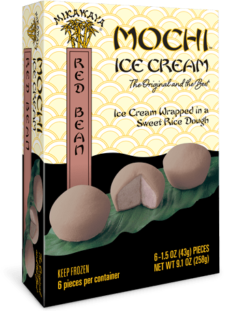 Mikawaya Mochi Ice Cream - Red Bean
