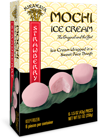 Mikawaya Mochi Ice Cream - Strawberry